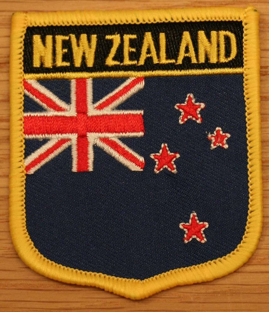 NEW ZEALAND Shield Country Flag Embroidered PATCH Badge P1