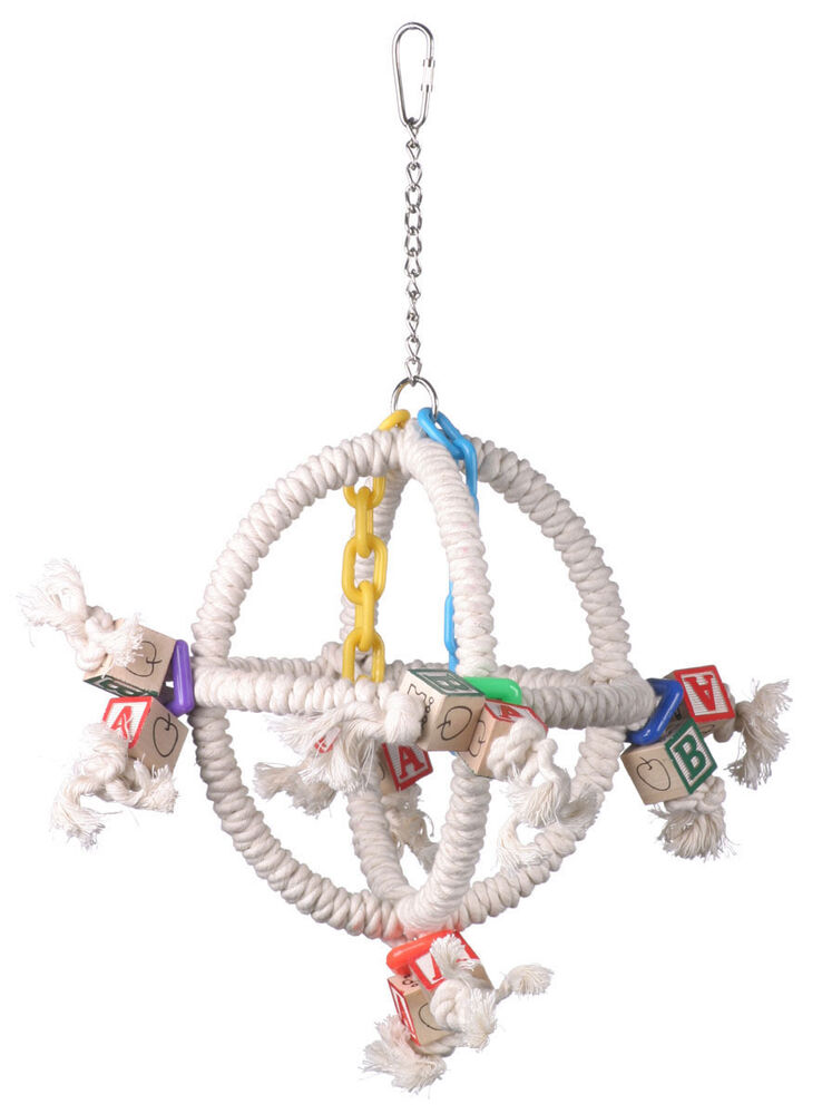 Toys For Birds : Parrot toy pet bird rope swing orbiter perch ebay