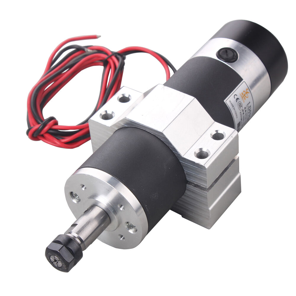 dc24v 110vdc 600w high speed air cooled spindle motor with