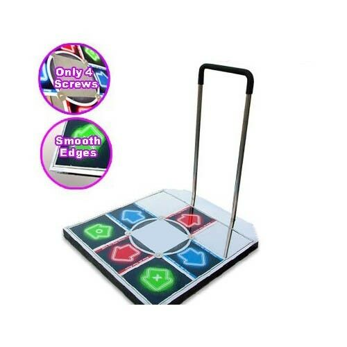 Ddr Champion Arcade Metal Dance Pad W Handle Bar For Ps