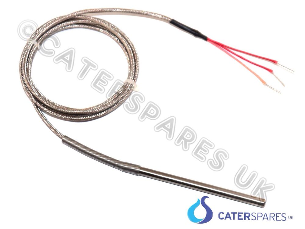 pt100 3 wire thermocouple high temperature probe 1500mm long pizza oven etc ebay. Black Bedroom Furniture Sets. Home Design Ideas