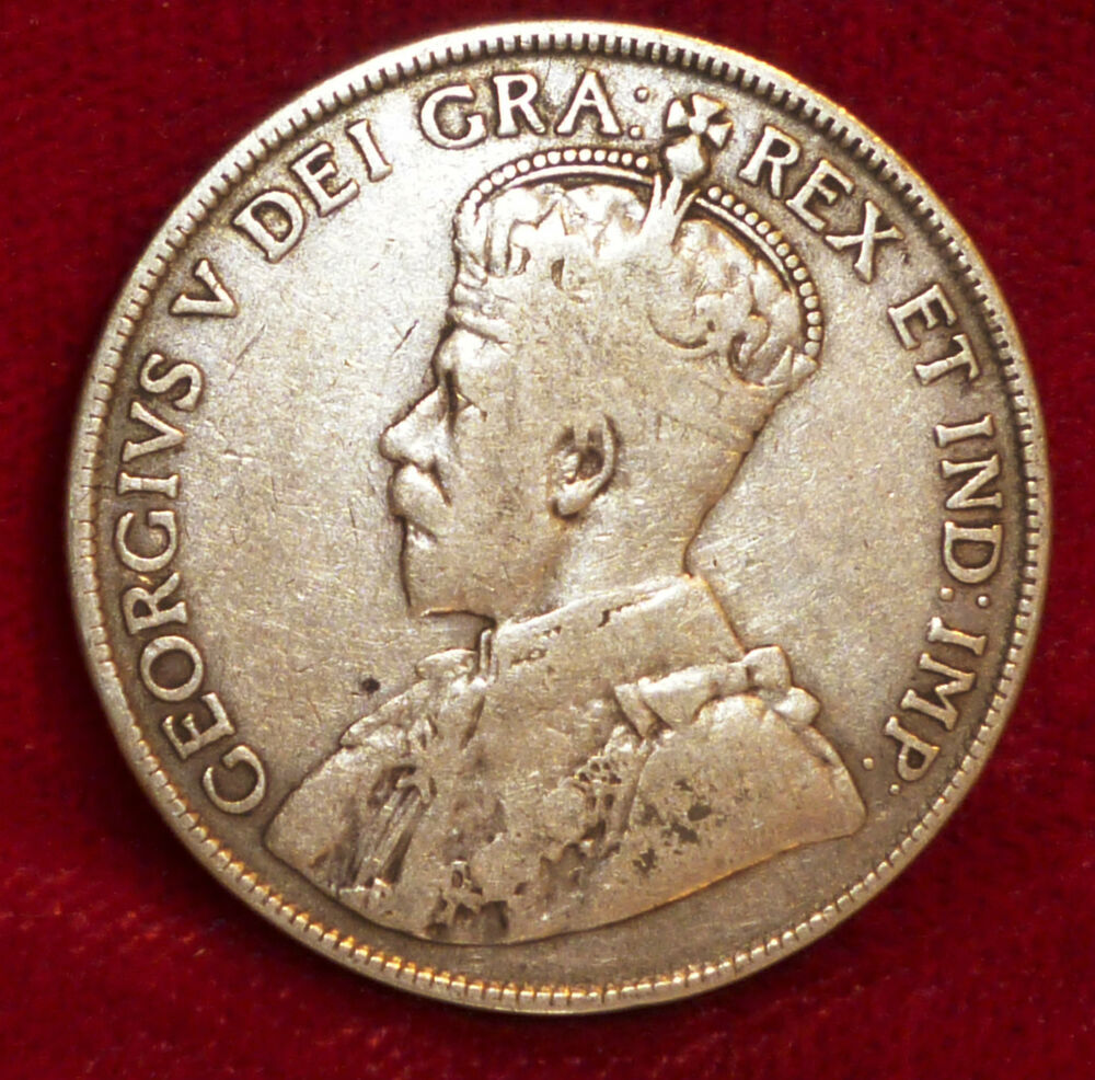 1916 Canada 50 Cents Silver King George V Beautiful Coin