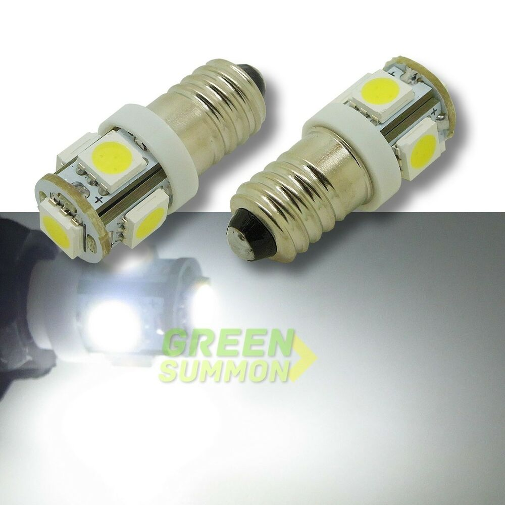 2x e10 5 smd 5050 led white lights miniature screw bulb for diy lionel dc 12v ebay Mini bulbs