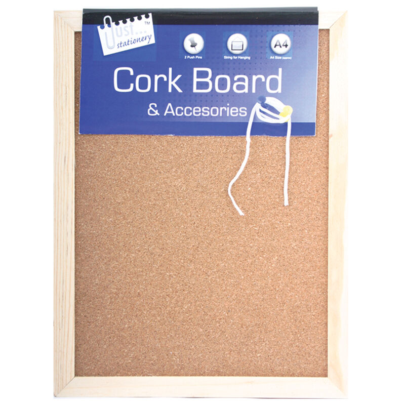 Small cork notice board pin memo wooden framed to do for To do board for kitchen