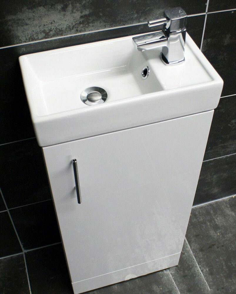 400mm Bathroom Square Vanity Basin Sink Unit With Optional