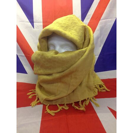 img-Genuine British Army Surplus Shemagh Scarf in Desert Sand/Gold Grade A 110x110cm