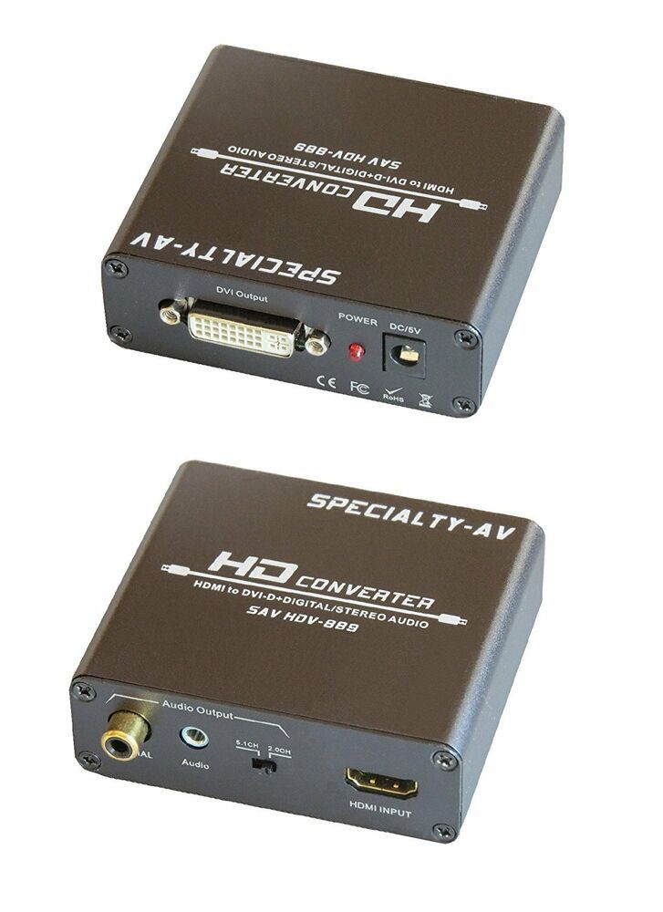 Hdmi To Dvi Digital Coax Analog Stereo 3 5mm Rca Audio