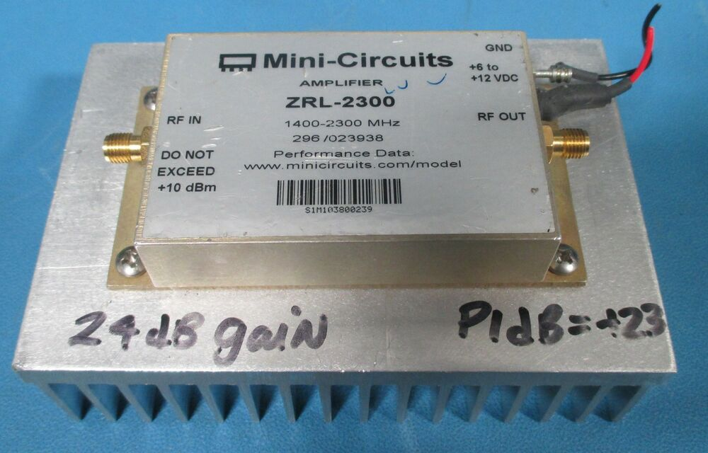 mini circuits zrl 2300 low noise amplifier 1400 to 2300mhz ebay. Black Bedroom Furniture Sets. Home Design Ideas