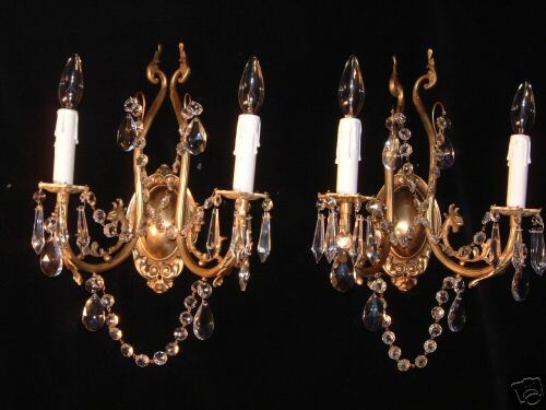 wall lights bronze &crystal w/ dragon head sculptures Gothic custom made eBay