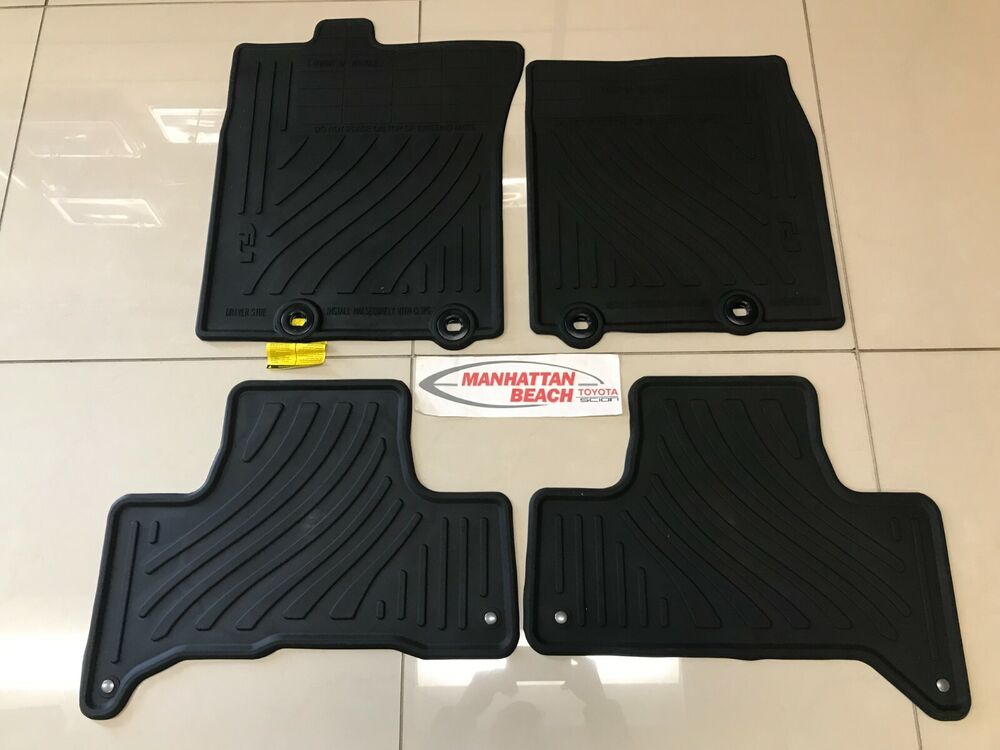 2011 2014 fj cruiser all weather rubber floor mats genuine. Black Bedroom Furniture Sets. Home Design Ideas
