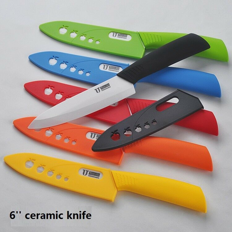 timhome 6 39 39 sharp health chef kitchen cutlery ceramic knife colorful choices ebay. Black Bedroom Furniture Sets. Home Design Ideas