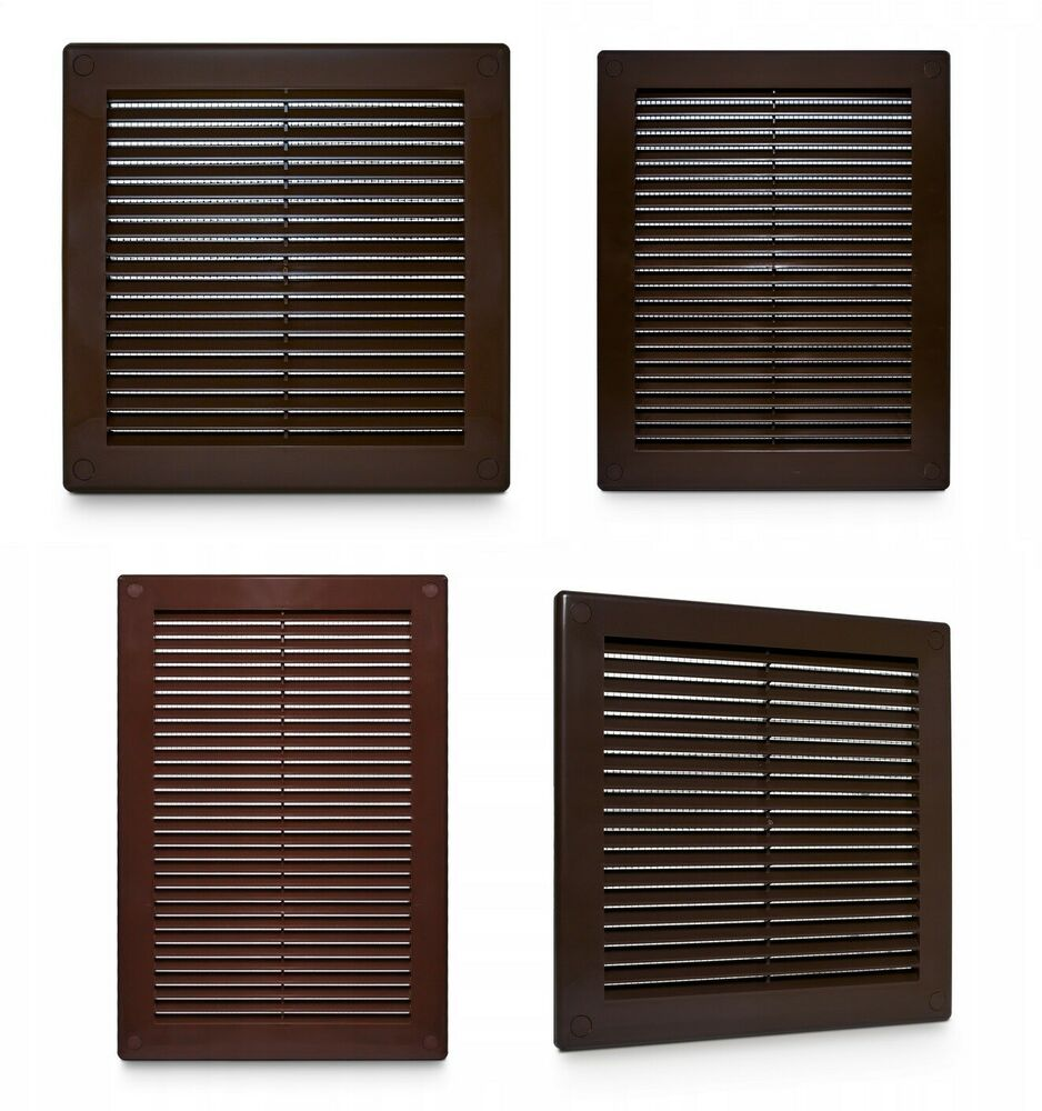 brown air vent grille wall ventilation cover louvre grilles 150mm 250mm 300mm ebay. Black Bedroom Furniture Sets. Home Design Ideas