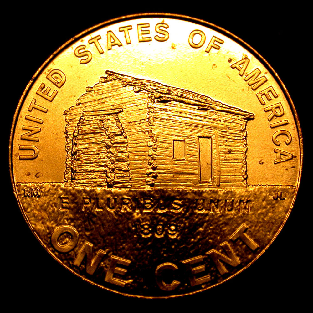 2009 Usa Bicentennial Penny Lincoln S Log Cabin In