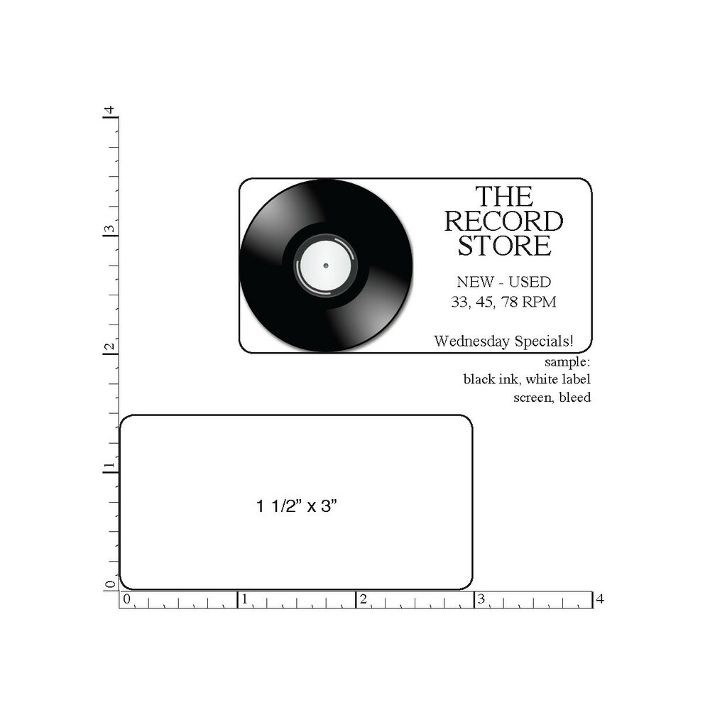 Details about 500 printed labels rectangle 1 1 2 x 3 custom business stickers 1 color ink