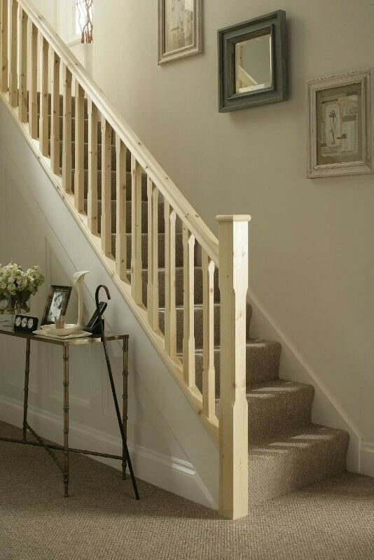 solid pine stair landing balustrade kit 41mm spindles. Black Bedroom Furniture Sets. Home Design Ideas