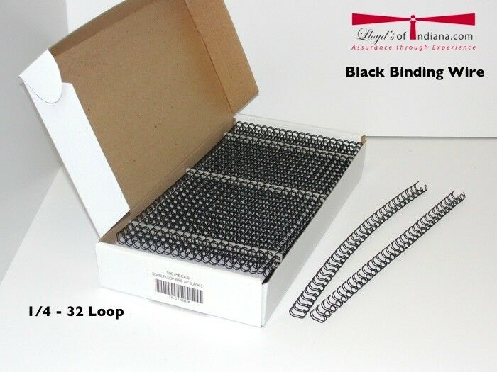 1 4 black double loop wire binding supplies double loop for Loop binden