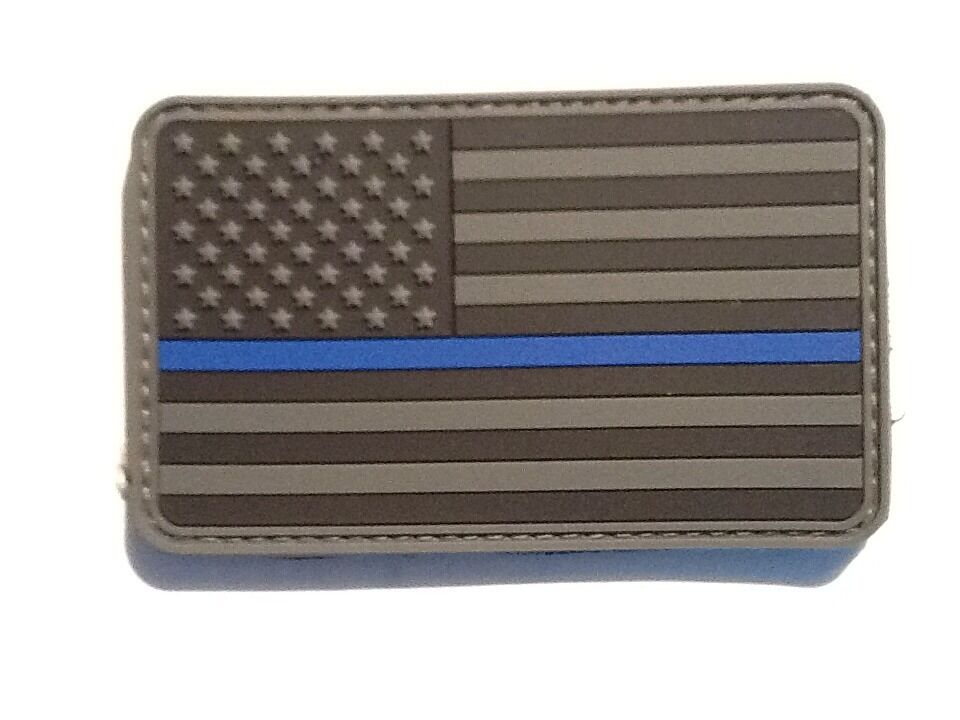 Thin Blue Line Subdued American Flag Patch American