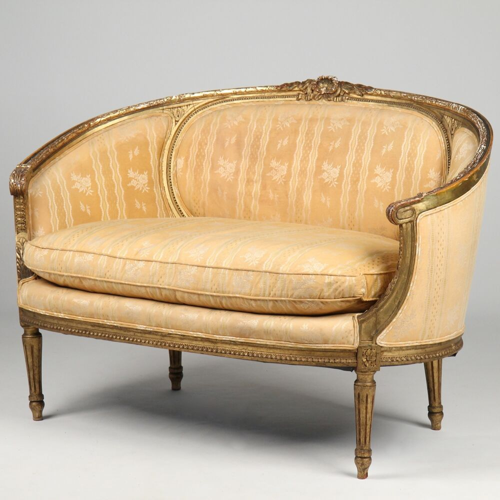 Antique Eastlake Sofa: French Louis XVI Antique Settee Canape Sofa Loveseat, C