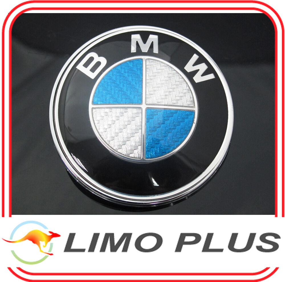 82mm Carbon Fiber Hood Bonnet Boot Emblem Badge For Bmw