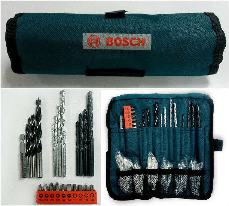 bosch multi purpose power bit set driver drill bits for wood concrete metals ebay. Black Bedroom Furniture Sets. Home Design Ideas