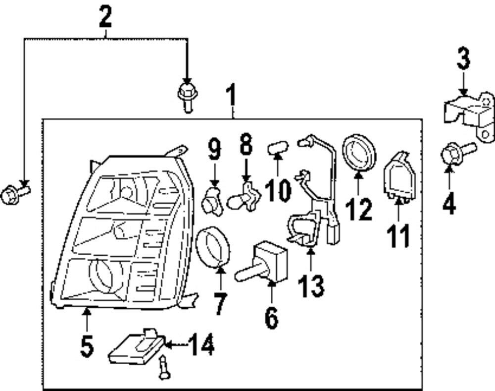 cadillac gm oem 15782392 headlamp module ebay. Black Bedroom Furniture Sets. Home Design Ideas