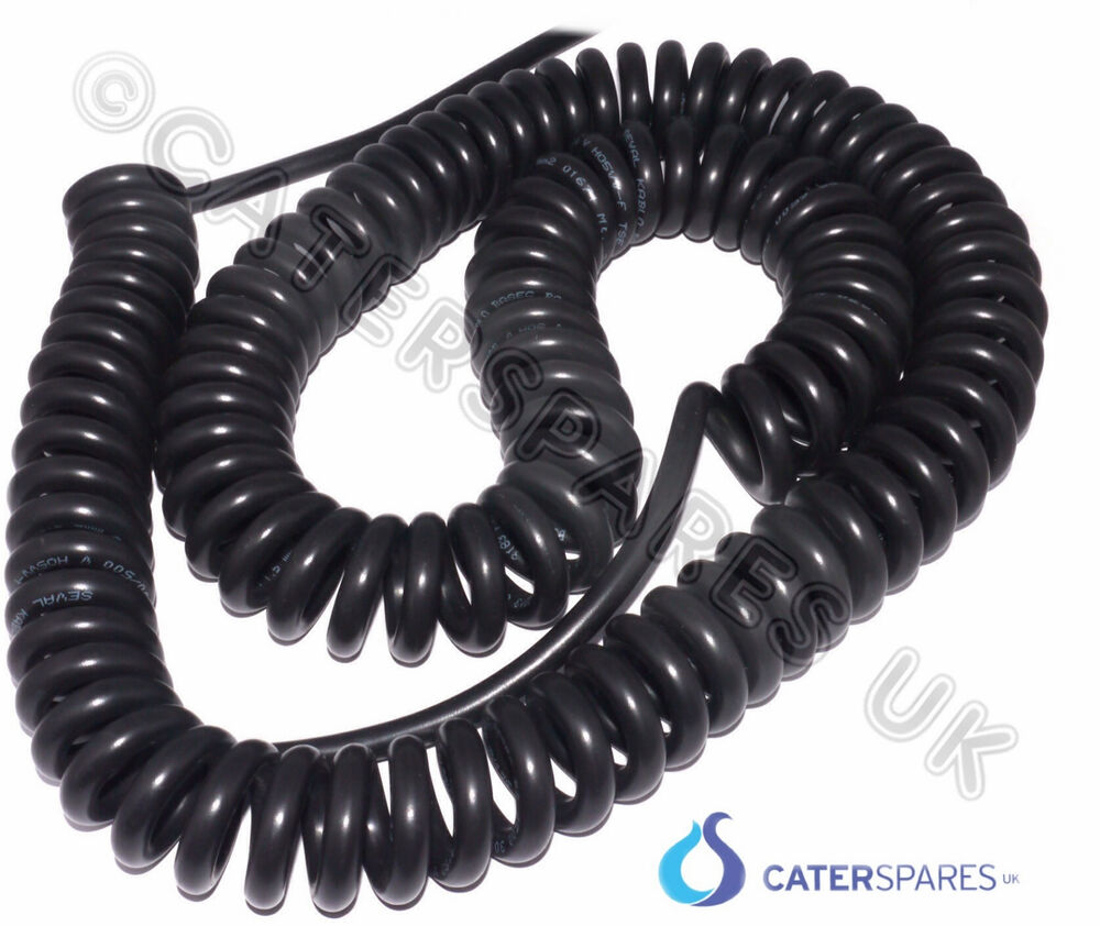 Curly Mains Power Supply Cord Cable 13 Amp Long Lead 3