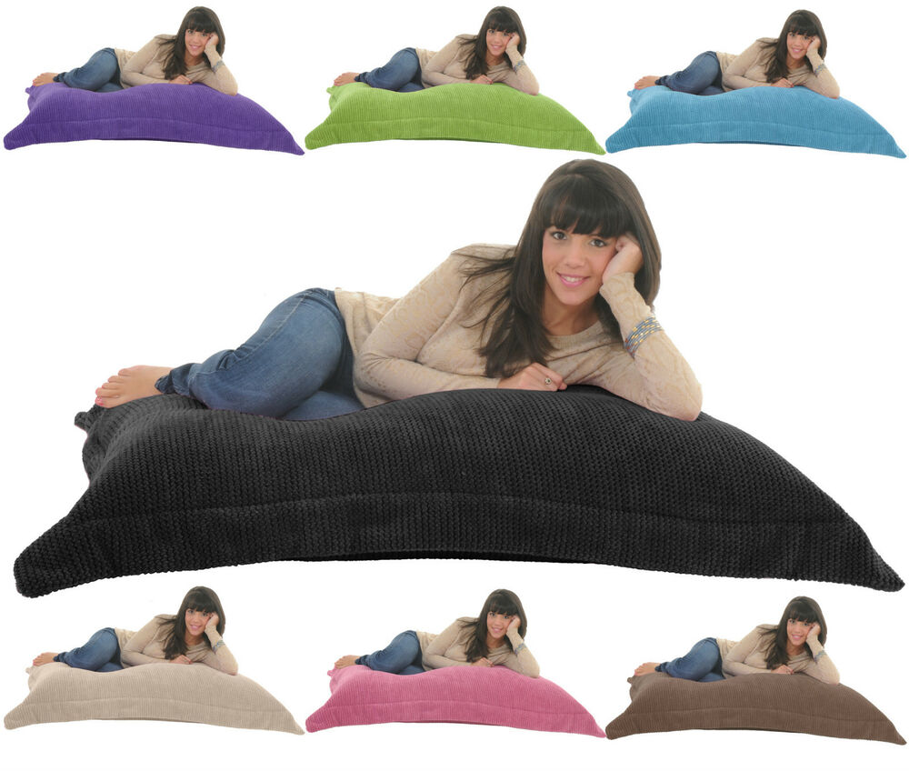 Soft Amp Snugly Cord Giant Beanbag Floor Cushion Chair Bed