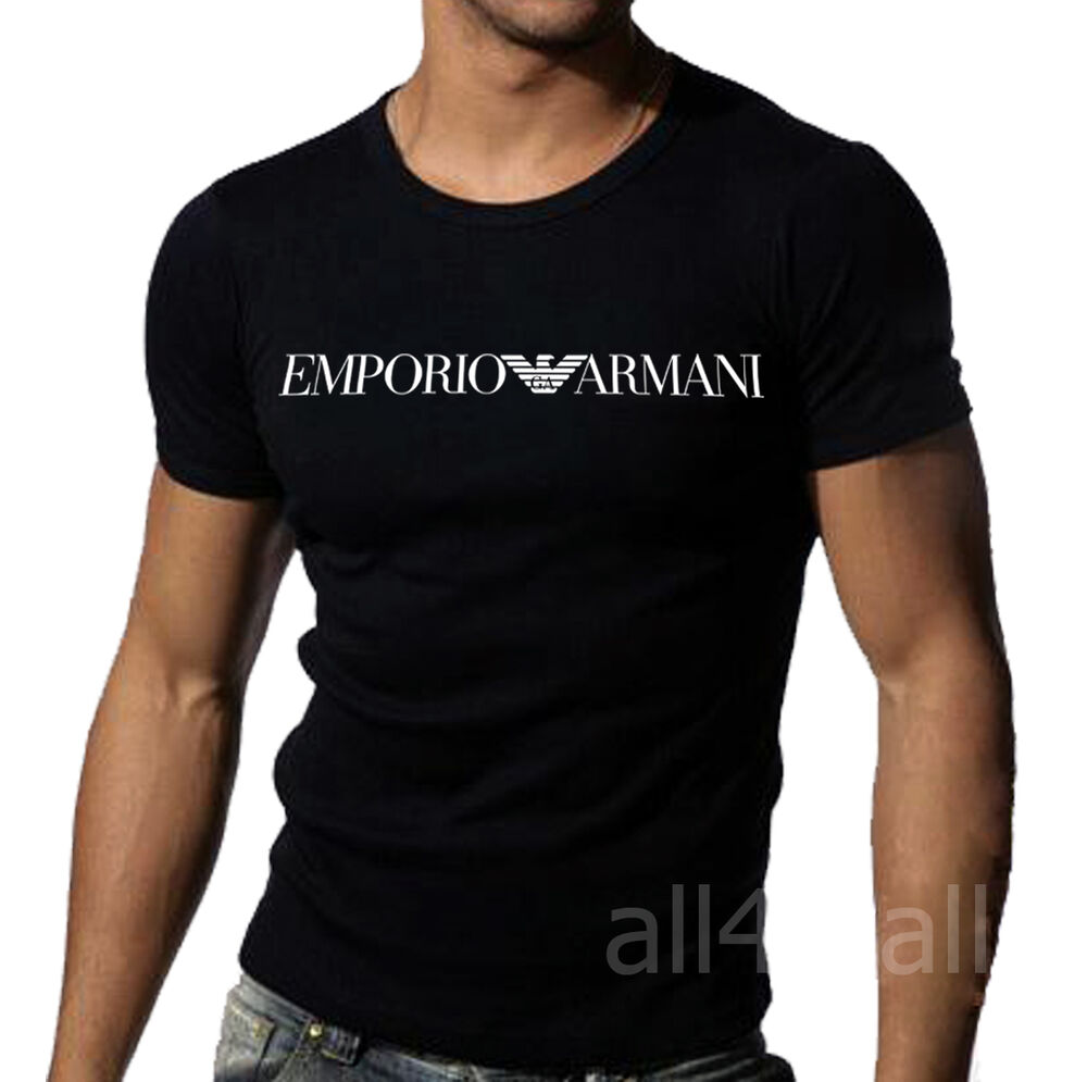 black emporio armani tight fit muscle t shirt sz m l xl ebay