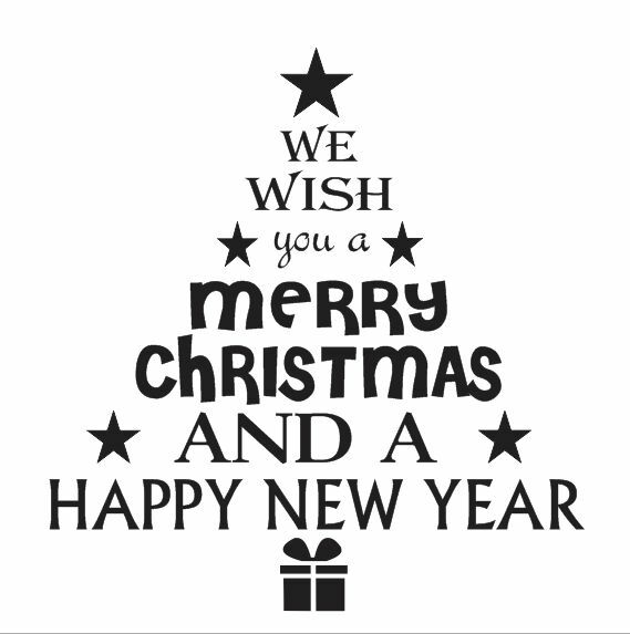 Christmas Holiday STENCIL 12x12 We Wish You A Merry*Tree