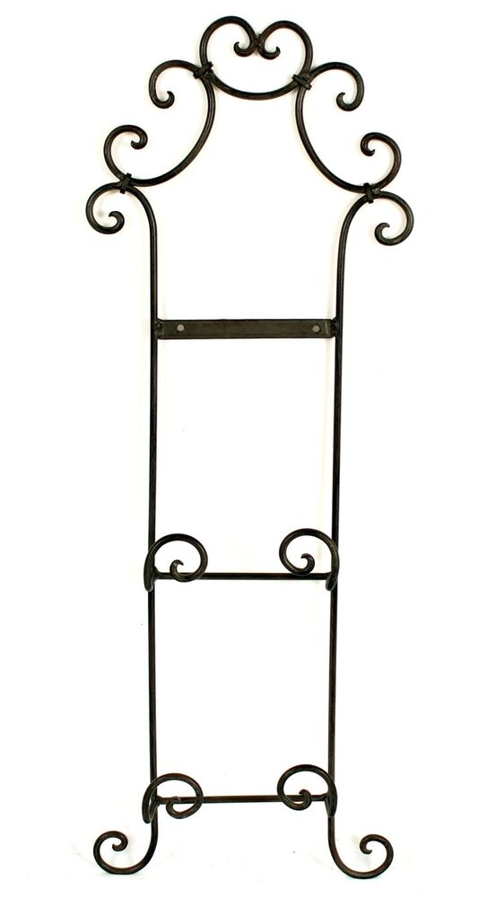 Wrought Iron Plate Racks For Walls 28 Images 386 2 Wrought Iron Wall Hanging Plate Racks Lot