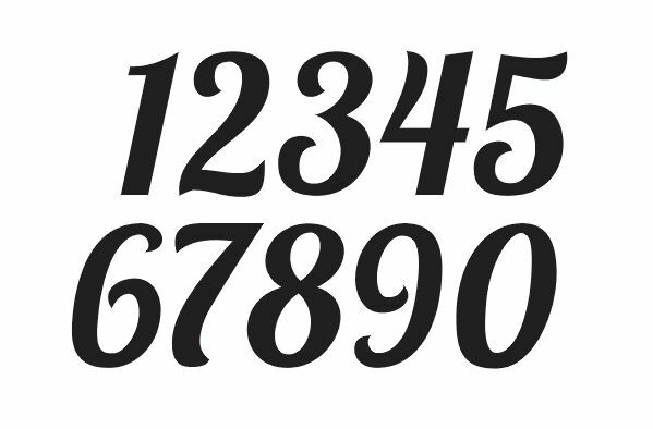 Lobster Font Numbers Stencil 1 4 Crafts Mailbox Wallart House Address Ebay