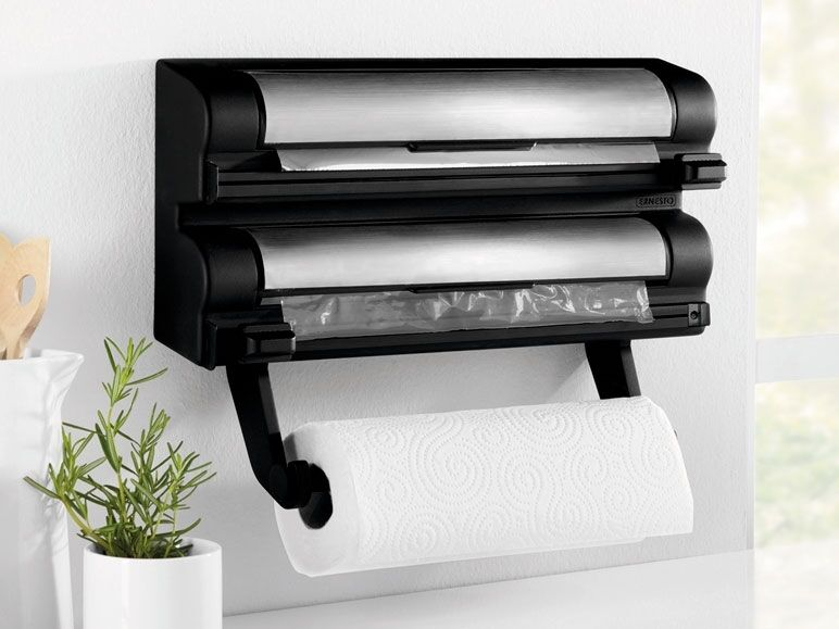 Kitchen Roll Foil Amp Cling Film Dispenser Wall Mounted