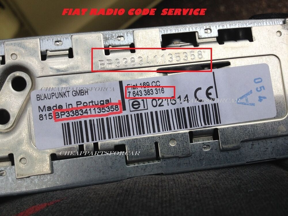 fiat radio decode code for all blaupunkt fiat radios punto panda ebay. Black Bedroom Furniture Sets. Home Design Ideas