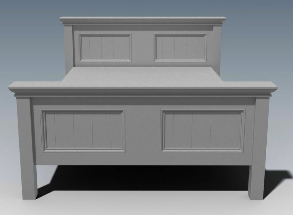 BUILDING PLANS) FOR CRAFTON QUEEN SIZE TIMBER BED - MAKE YOUR OWN ...
