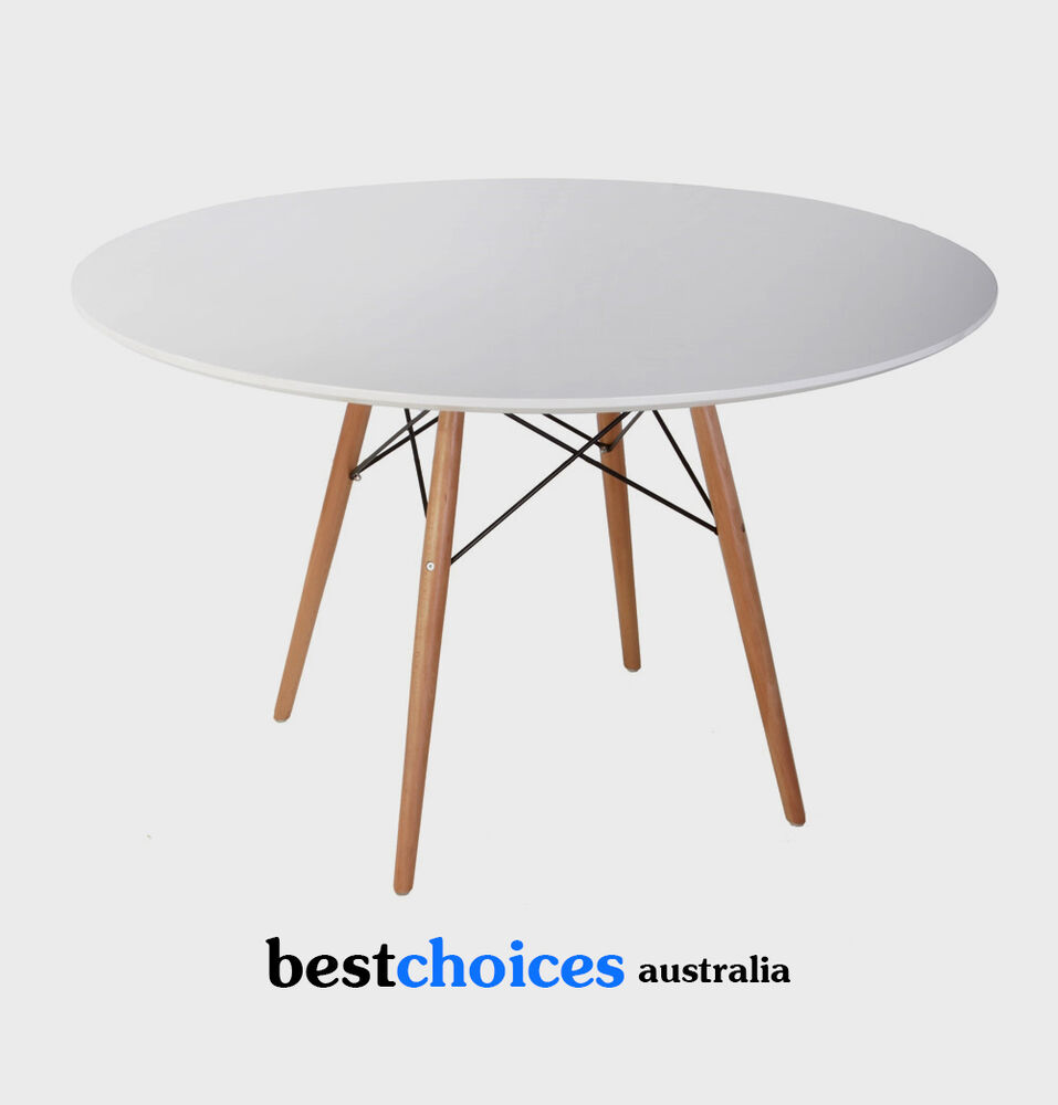 Replica Eames DSW Round White Top Dining Table Wooden Legs  : s l1000 from www.ebay.com.au size 957 x 1000 jpeg 42kB
