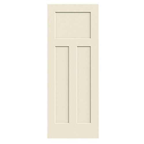 Craftsman 3 panel primed molded solid core wood composite interior doors prehung ebay for Solid wood panel interior doors