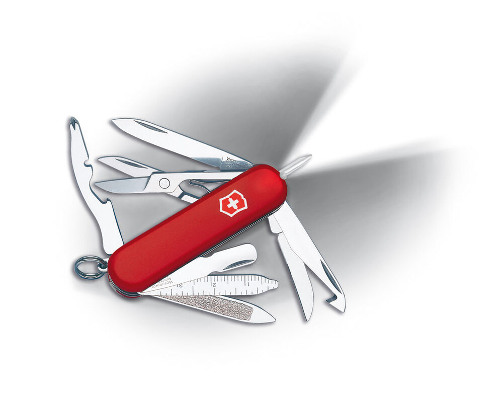 Victorinox Swiss Army Knife Midnite Minichamp Red Model