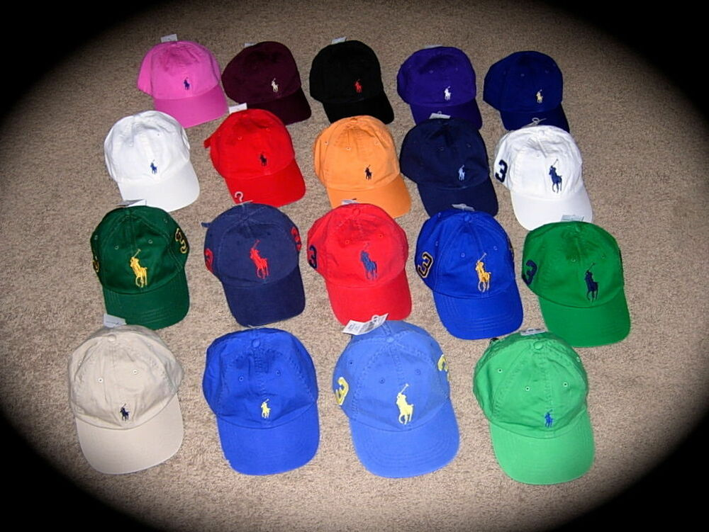 New Polo Ralph Lauren Baseball Cap Hat Big Pony Adjustable