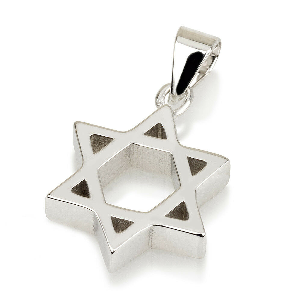Star Of David Magen David Pendant With Chain Sterling