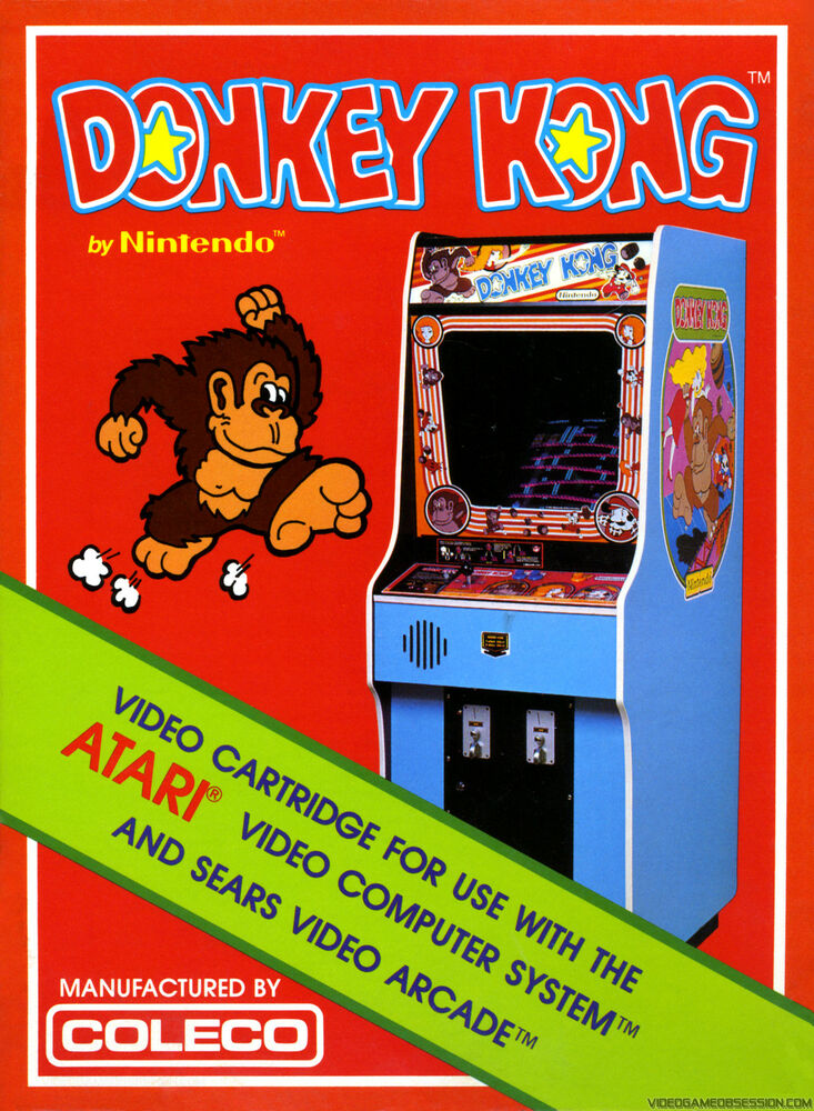 donkey kong promo poster nintendo atari sega playstation ebay. Black Bedroom Furniture Sets. Home Design Ideas