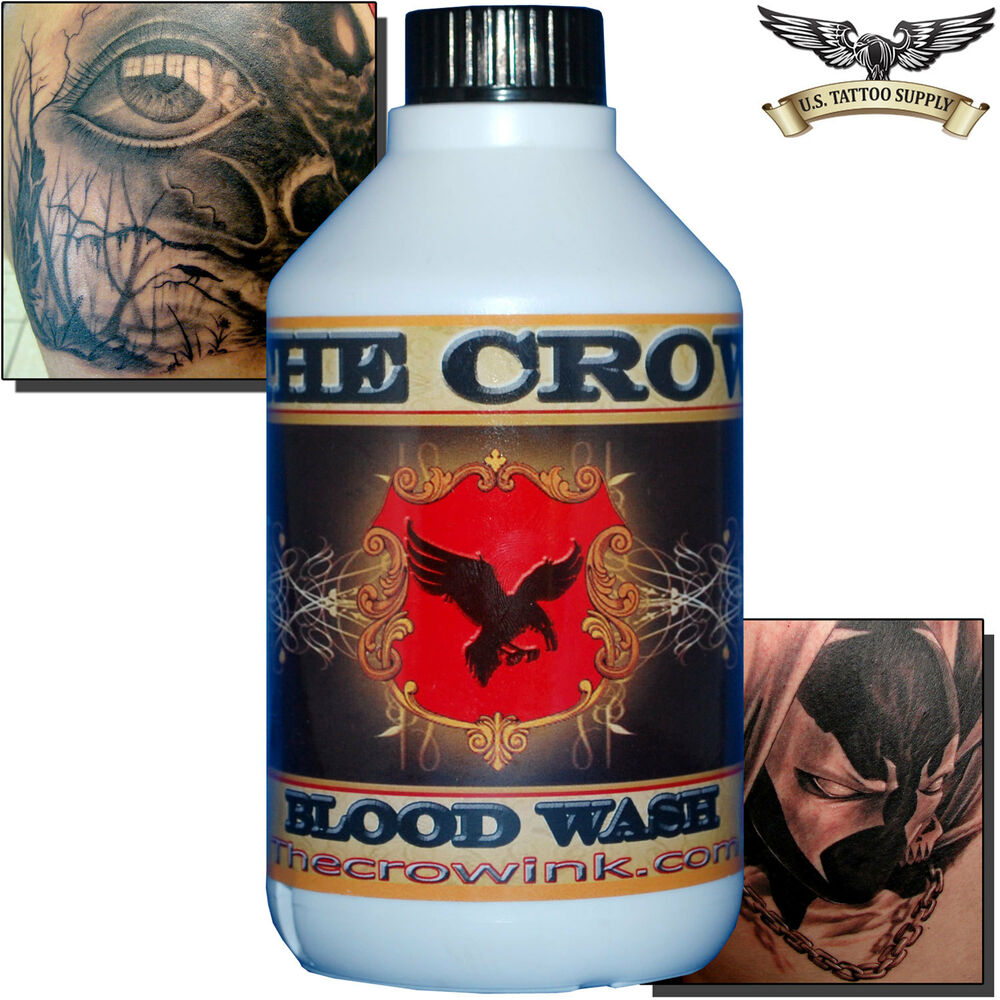 The crow blood red wash tattoo ink 300ml ebay for Best soap to clean tattoo