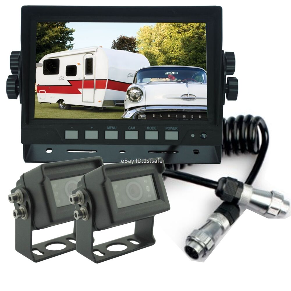 Rear View Back Up Reverse Camera System 7 Quot Lcd For Trailer