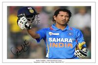 SACHIN TENDULKAR 100TH CENTURY INDIA CRICKET SIGNED AUTOGRAPH PHOTO PRINT