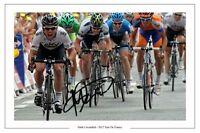 MARK CAVENDISH TOUR DE FRANCE SIGNED AUTOGRAPH PHOTO PRINT