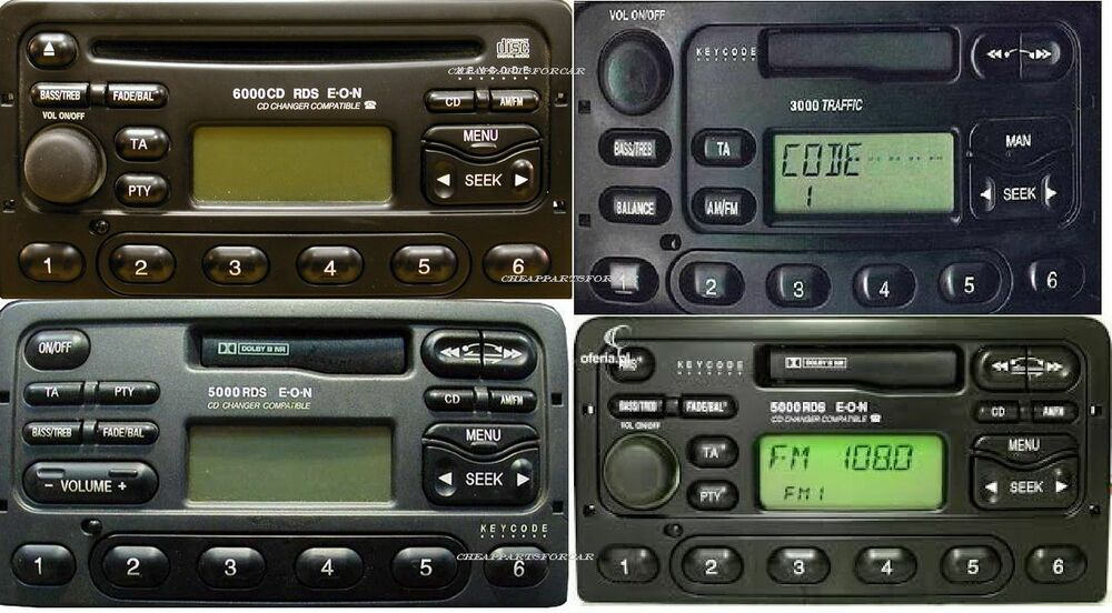 ford radio decode code forall a m l c 6000 cassette cd. Black Bedroom Furniture Sets. Home Design Ideas