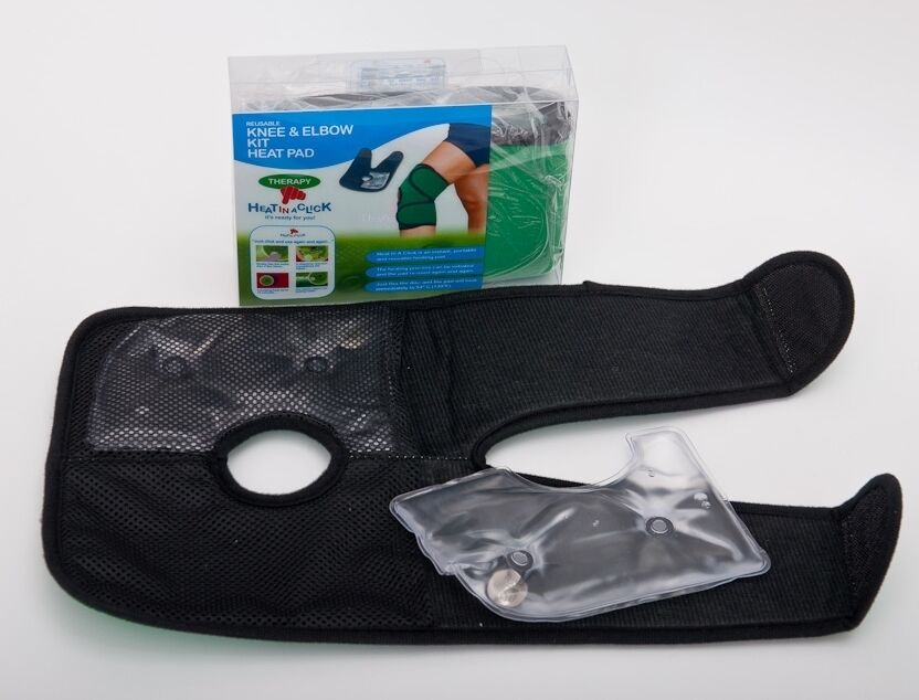 Reusable Instant Heating Pad : Heat in a click instant reusable knee elbow pad