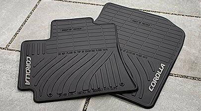 2009 2013 corolla all weather season rubber floor mats genuine toyota accessory ebay. Black Bedroom Furniture Sets. Home Design Ideas