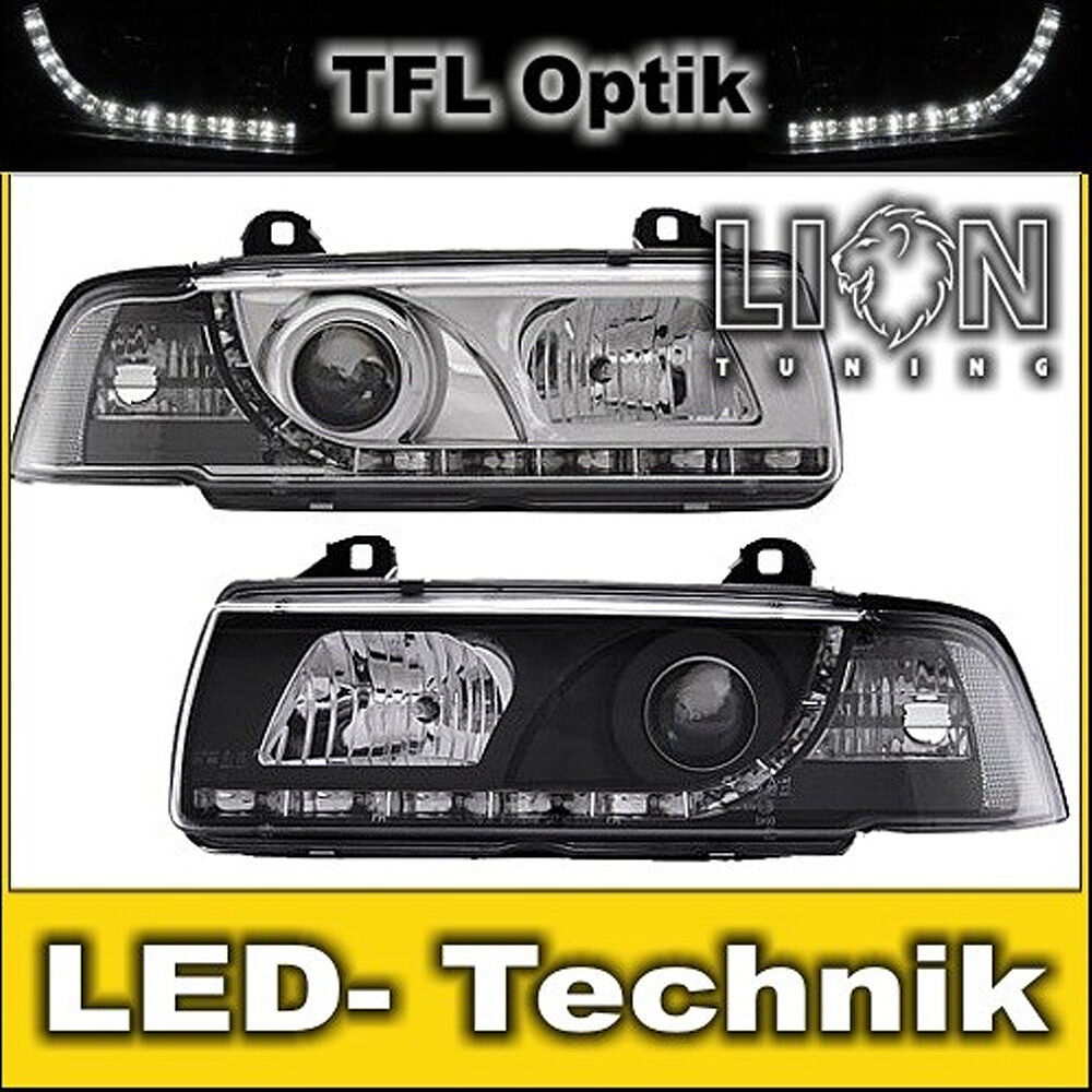 led tagfahrlicht optik scheinwerfer 3er bmw e36 compact. Black Bedroom Furniture Sets. Home Design Ideas