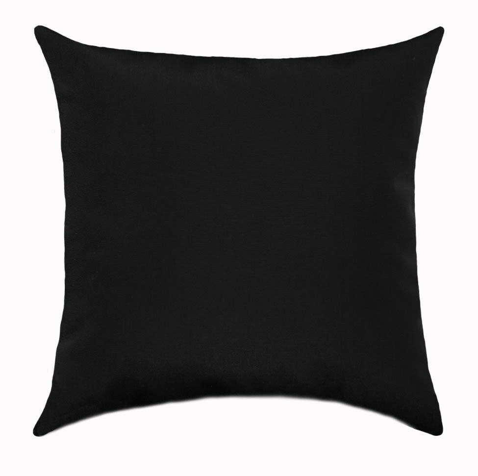 Decorative Black Lumbar Pillow : Premier Prints Solid Black Lumbar or Square Decorative Throw Pillow eBay