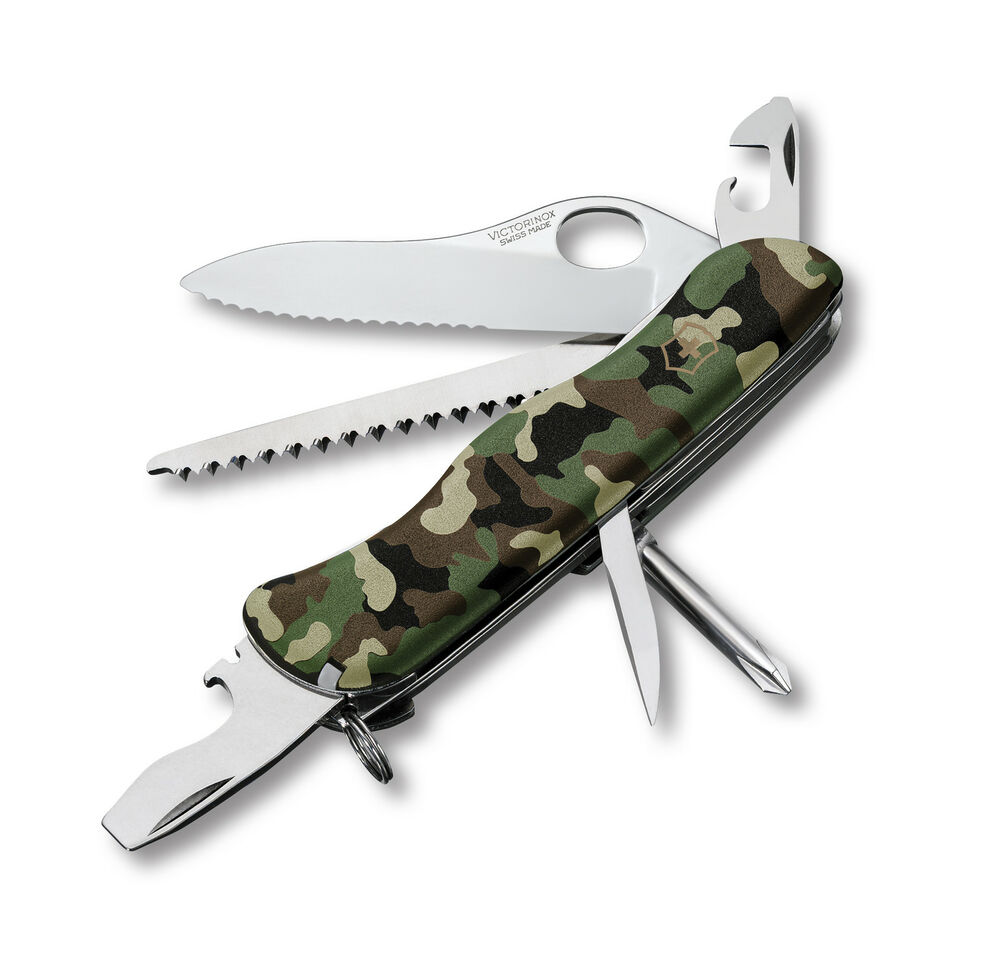 Victorinox Swiss Army Knife One Hand Trekker Camo